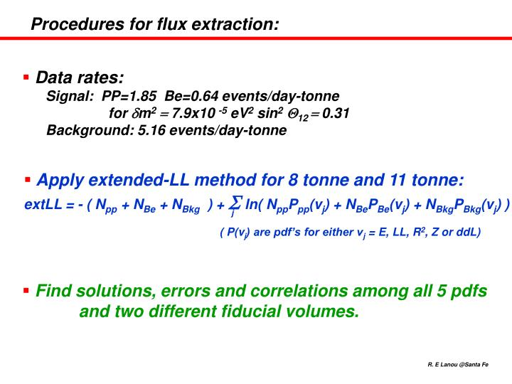 Procedures for flux extraction: