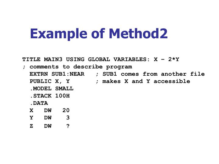 Example of Method2