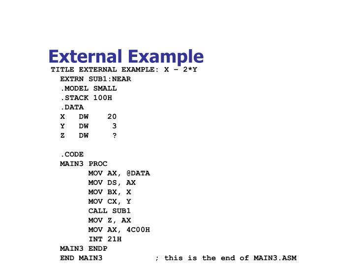 External Example
