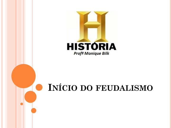 In cio do feudalismo