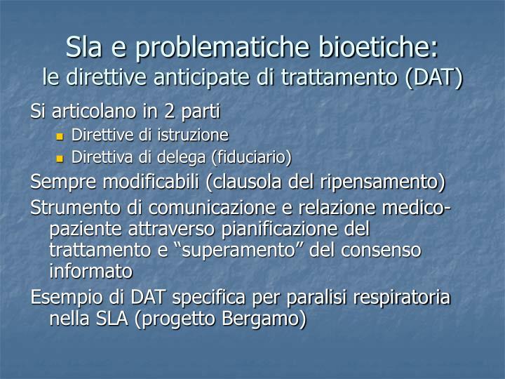 Sla e problematiche bioetiche: