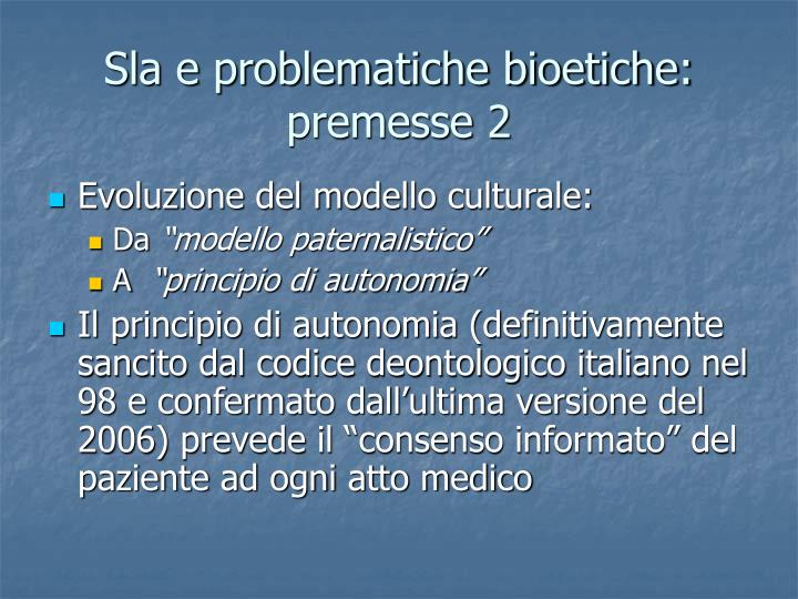 Sla e problematiche bioetiche: premesse 2