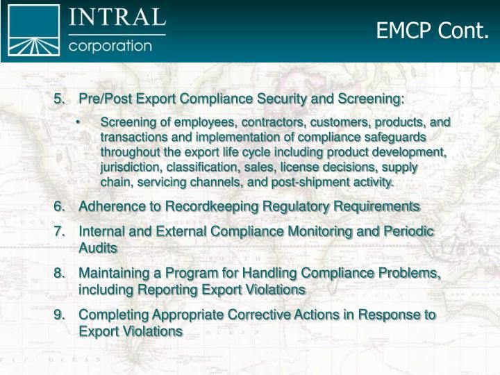 EMCP Cont.