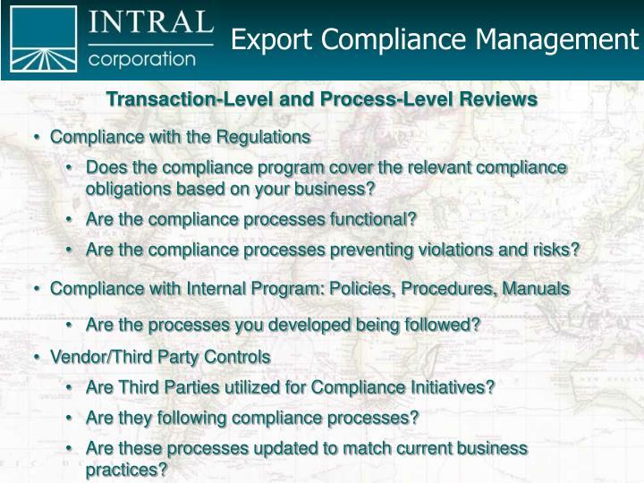 Export Compliance Management