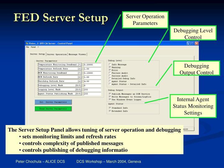 FED Server Setup