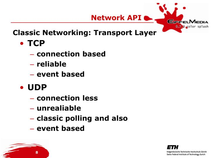 Classic Networking: Transport Layer