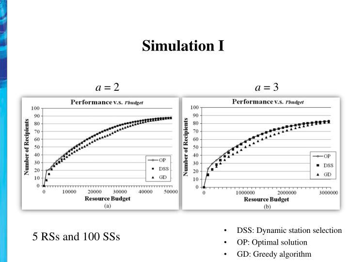 Simulation I