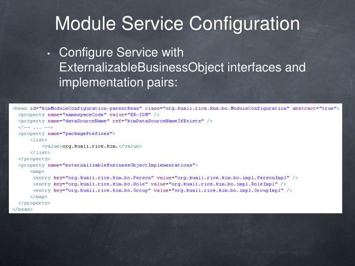 Module Service Configuration