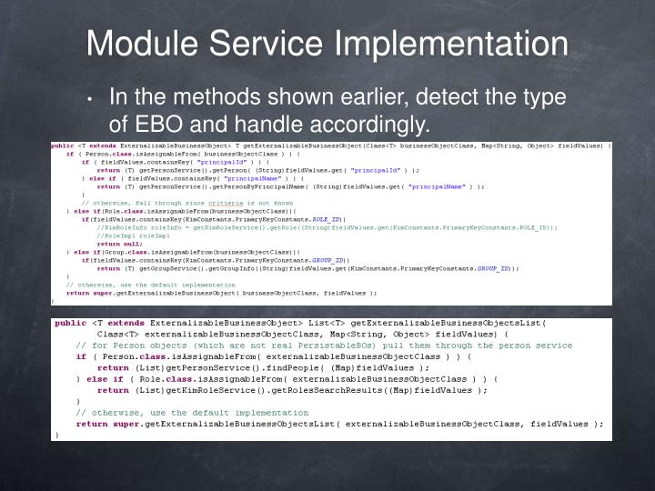 Module Service Implementation