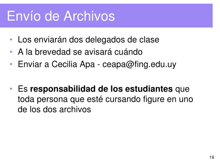 Envío de Archivos