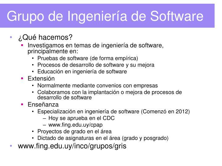 Grupo de Ingeniería de Software