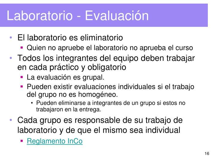 Laboratorio - Evaluación