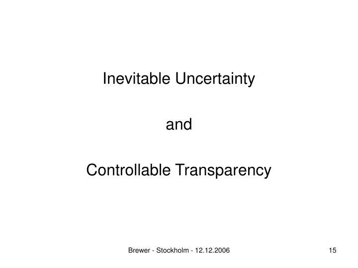 Inevitable Uncertainty