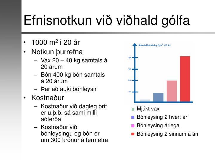 Efnisnotkun við viðhald gólfa