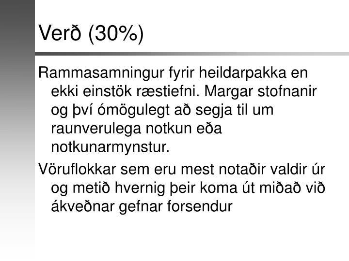 Verð (30%)