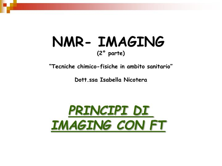 NMR- IMAGING