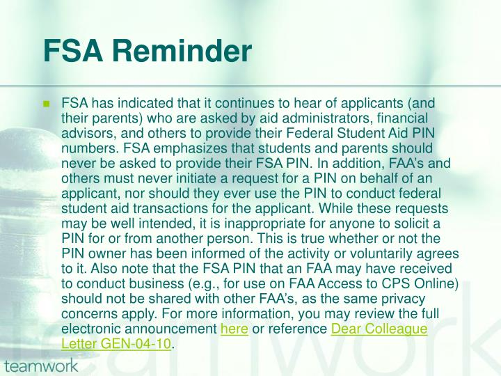 FSA Reminder
