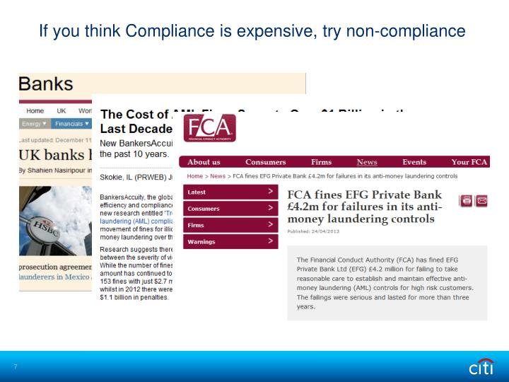 If you think Compliance is expensive, try non-compliance
