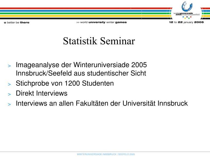 Statistik Seminar