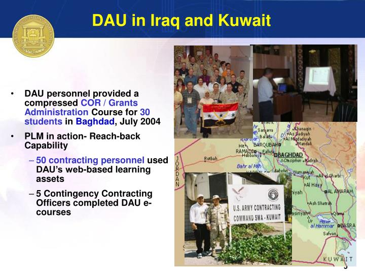 DAU in Iraq and Kuwait