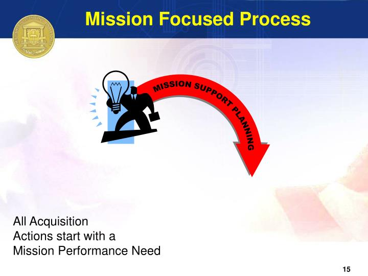Mission Focused Process