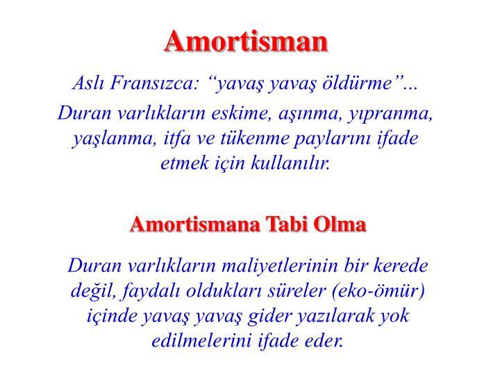 Amortisman