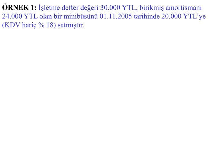 ÖRNEK 1:
