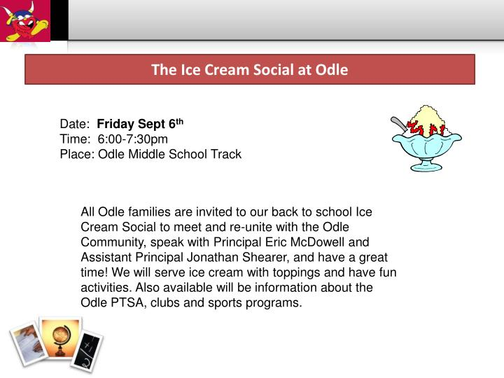 The Ice Cream Social at Odle