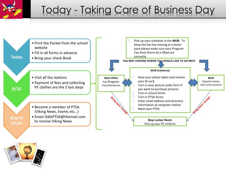 Today - Taking Care of Business Day