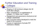further education and training colleges