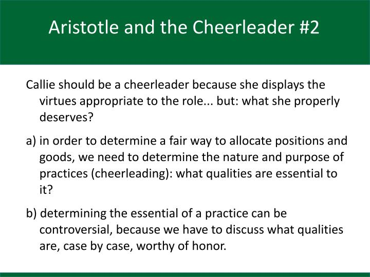 Aristotle and the Cheerleader #2