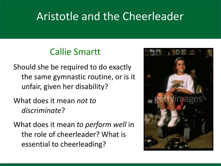 Aristotle and the Cheerleader