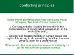conflicting principles