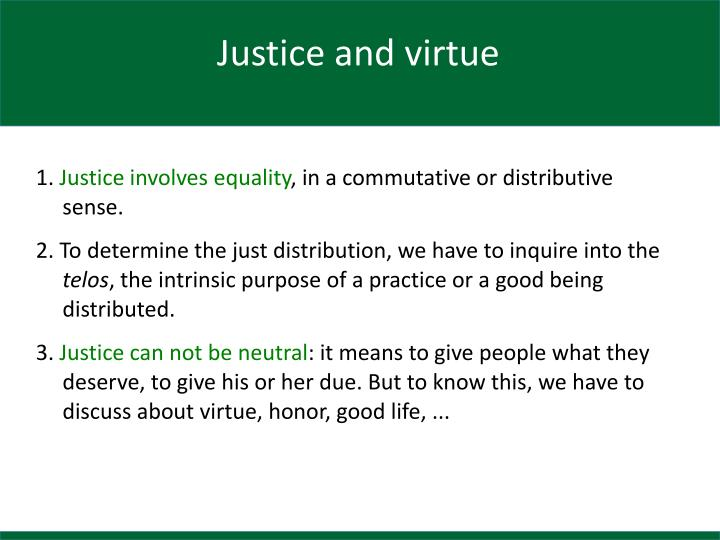 Justice and virtue