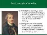 kant s principle of morality
