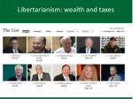 libertarianism wealth and taxes
