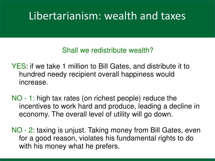 Shall we redistribute wealth?