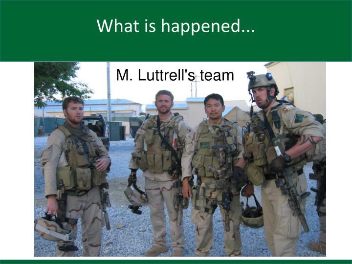 M. Luttrell's team