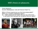 mill s thesis on pleasures