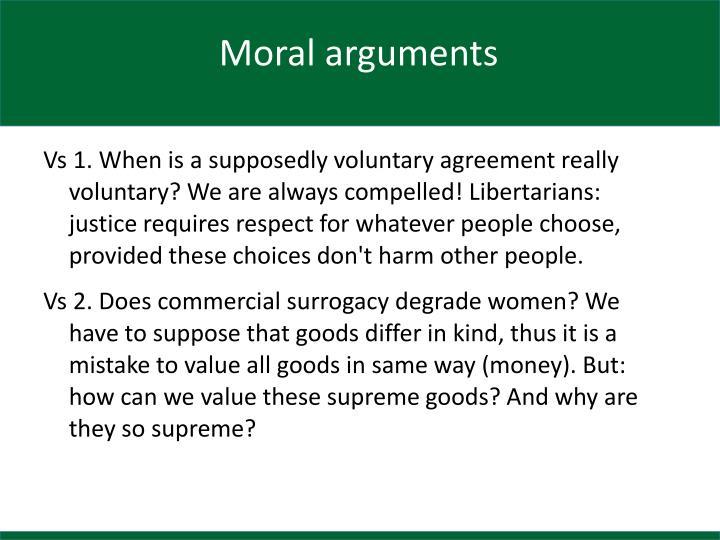 Moral arguments
