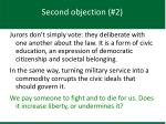 second objection 2