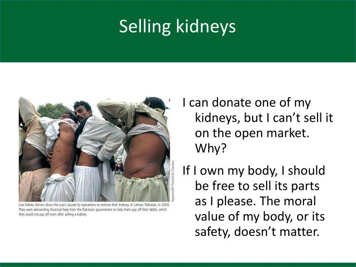 Selling kidneys