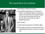 the moral force of a contract