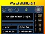 wer wird million r1