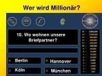 wer wird million r10