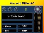 wer wird million r16