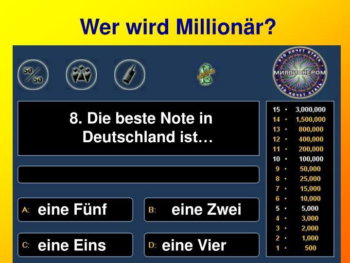 Wer wird Million