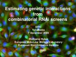 estimating genetic interactions from combinatorial rnai screens