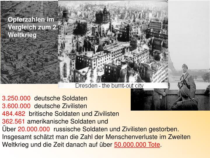 Opferzahlen 2 Weltkrieg