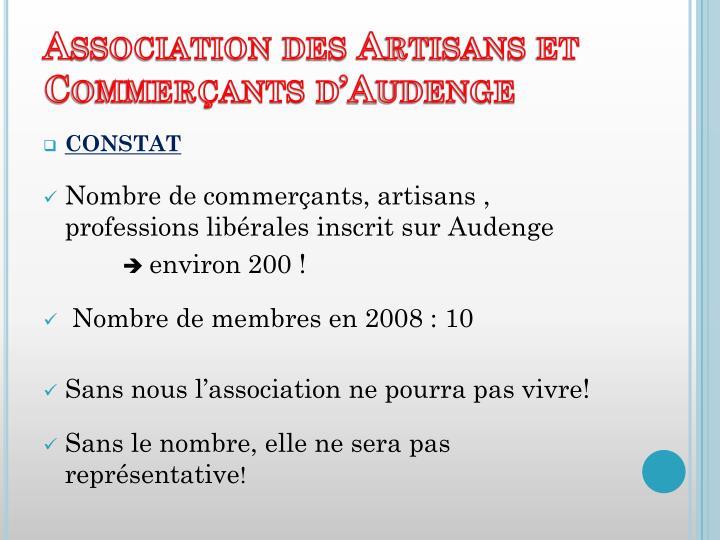 Association des Artisans et Commerçants d'Audenge
